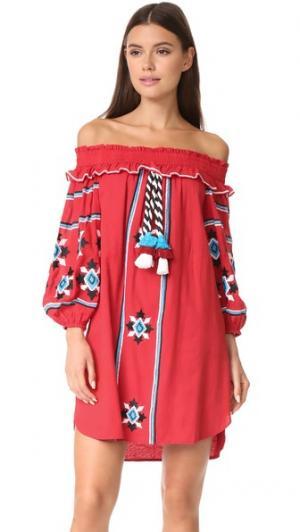 Платье Natalie MISA. Цвет: красный