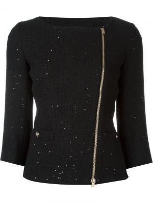 Твидовый пиджак Herno. Цвет: чёрный