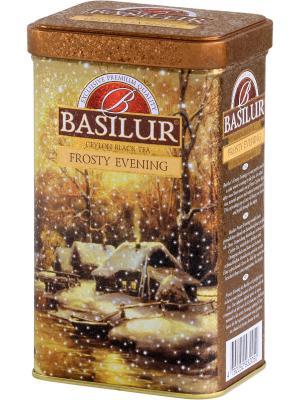 Чай черный Праздничная коллекция МОРОЗНЫЙ ВЕЧЕР, 85гр Basilur. Цвет: золотистый