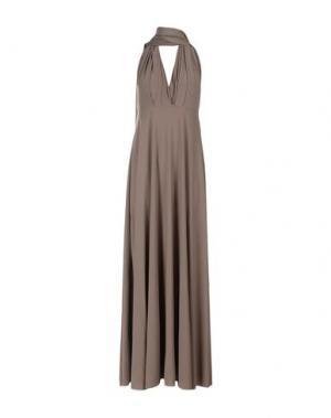 Длинное платье VON VONNI. Цвет: серый