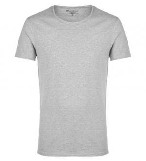 Серая хлопковая футболка с короткими рукавами Bread&Boxers. Цвет: серый