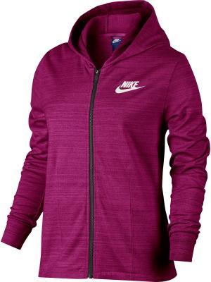 Толстовка W NSW AV15 JKT KNT Nike. Цвет: красный
