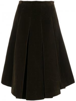 Плиссированная юбка миди Simone Rocha. Цвет: зелёный
