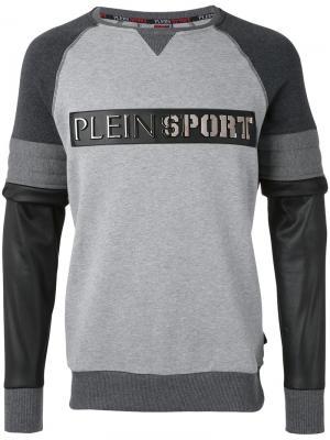 Толстовка с панельным дизайном Plein Sport. Цвет: серый