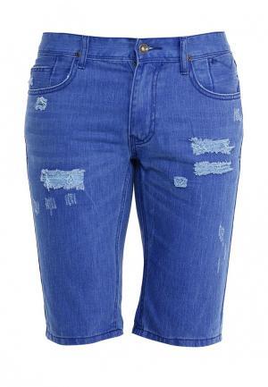 Шорты джинсовые oodji. Цвет: синий