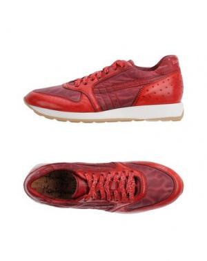 Низкие кеды и кроссовки PRIMABASE. Цвет: красный