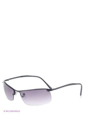 Солнцезащитные очки Oodji. Цвет: черный