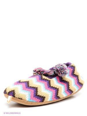 Тапочки De Fonseca. Цвет: фиолетовый, бежевый