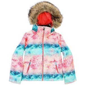 Куртка утепленная детская  Jet Ski Girl G Snjt Neon Grapefruit_sola Roxy. Цвет: мультиколор