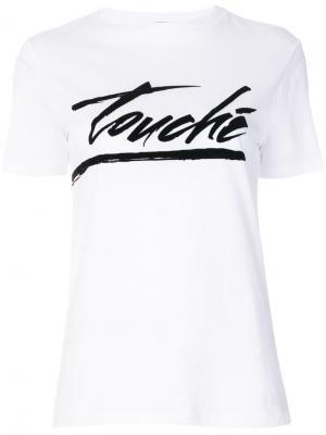 Футболка Touché Être Cécile. Цвет: белый