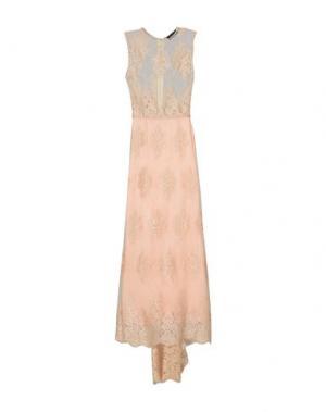 Длинное платье NORA BARTH. Цвет: телесный