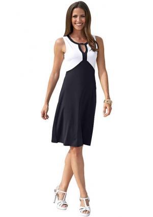 Платье Maria Bellesi. Цвет: белый/черный