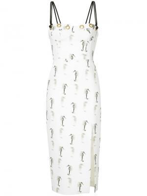 Платье Lucky Seahorse Manning Cartell. Цвет: белый