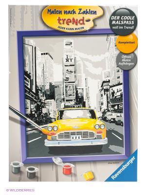 Набор для рисования Такси в Нью-Йорке Ravensburger. Цвет: белый, темно-зеленый, серый, желтый