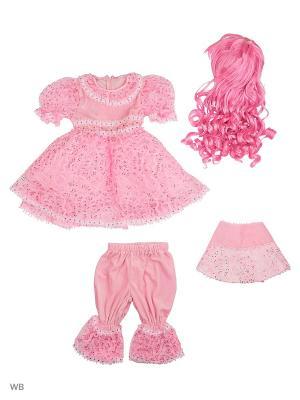 Карнавальный костюм Кукла Батик. Цвет: розовый