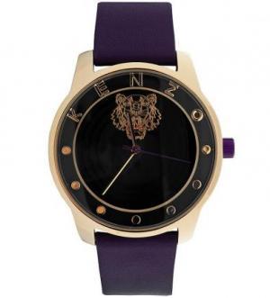 Часы с круглой формы фиолетовым ремешком Kenzo