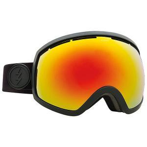Маска для сноуборда  Eg2 Matte Real Black+bl/Brose/Red Chrome Electric. Цвет: черный