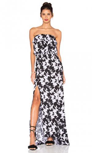 Макси платье jaffa Karina Grimaldi. Цвет: черный