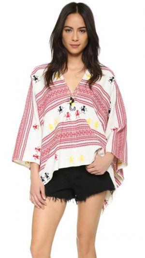 Пончо с вышивкой Christophe Sauvat Collection. Цвет: яркий мульти