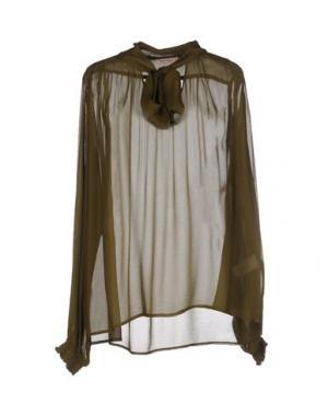 Блузка KARTIKA. Цвет: зеленый-милитари