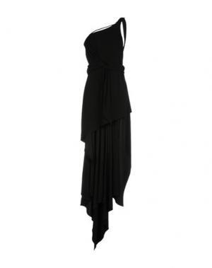 Длинное платье ANTHONY VACCARELLO. Цвет: черный