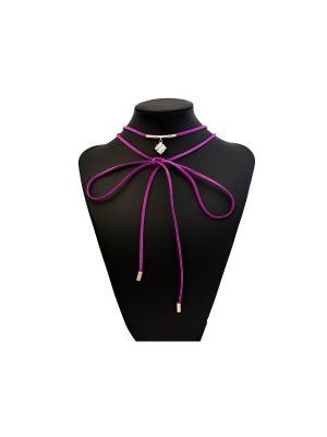 Чокер Miss Bijou. Цвет: фиолетовый, золотистый