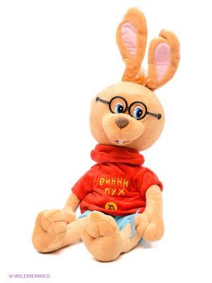 Мягкая игрушка Кролик в очках Мульти-пульти. Цвет: светло-коричневый, красный, голубой