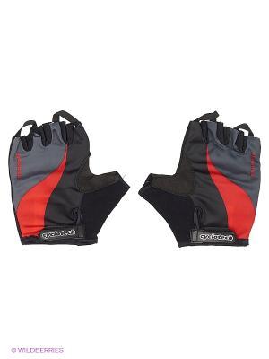 Велоперчатки Cyclotech. Цвет: черный, красный