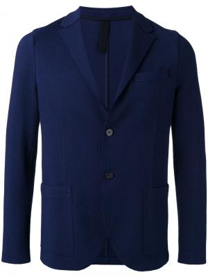Блейзер с накладными карманами Harris Wharf London. Цвет: синий