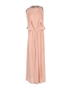 Длинное платье 8PM. Цвет: телесный