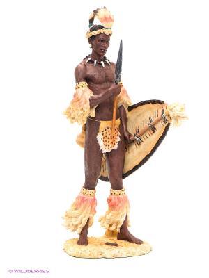 Статуэтка Африканский воин Veronese. Цвет: коричневый, серебристый, бежевый, белый