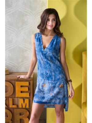 Туника Mia-Mia. Цвет: синий, золотистый, серо-голубой