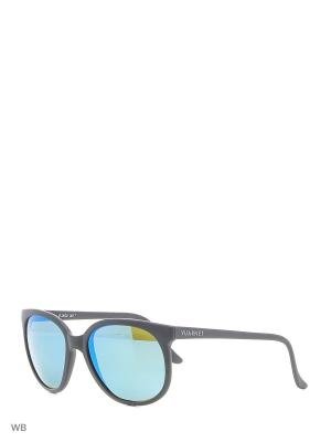 Солнцезащитные очки VL 0002 0017 POUILLOUX Vuarnet. Цвет: черный
