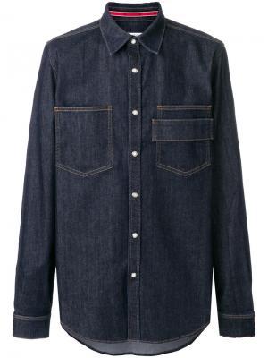 Джинсовая рубашка Givenchy. Цвет: синий