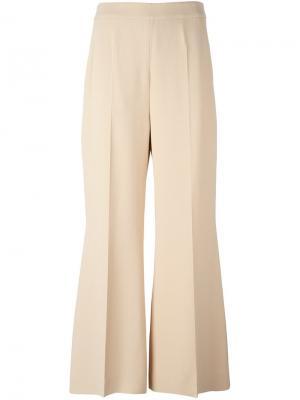 Расклешенные брюки Sportmax. Цвет: телесный