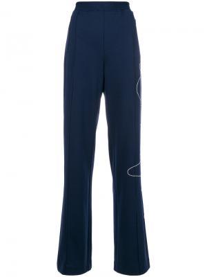 Декорированные брюки Area. Цвет: синий
