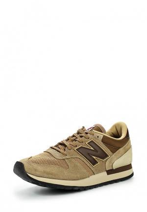 Кроссовки New Balance. Цвет: бежевый