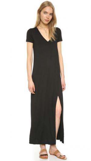 Длинное платье-футболка Connie Three Dots. Цвет: голубой