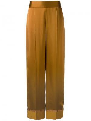 Широкие брюки Maison Margiela. Цвет: коричневый