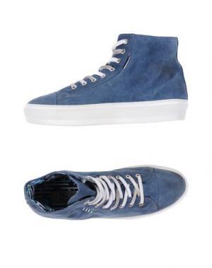 Высокие кеды и кроссовки YAB. Цвет: грифельно-синий