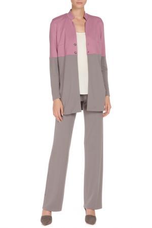 Костюм: жакет, брюки Adzhedo. Цвет: серый, розовый