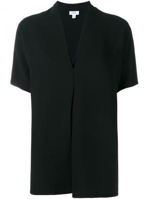 Блузка c V-образным вырезом Vince. Цвет: чёрный