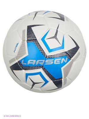 Мяч футбольный Futsal  p.4 Larsen. Цвет: белый, серый, синий