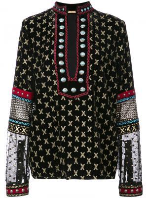 Блузка со сплошным принтом Dodo Bar Or. Цвет: чёрный