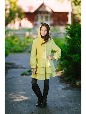 Пальто DUWALI. Цвет: светло-желтый