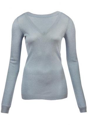 Пуловер MY STYLE. Цвет: белый/серебристый