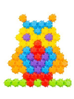 Мозаика-пазлы Фантазия 96 эл. ТИГРЕС. Цвет: желтый, синий, зеленый, красный