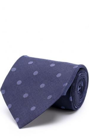 Галстук из смеси шелка и шерсти Tom Ford. Цвет: темно-синий
