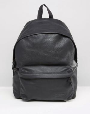Eastpak Черный кожаный рюкзак PakR. Цвет: черный
