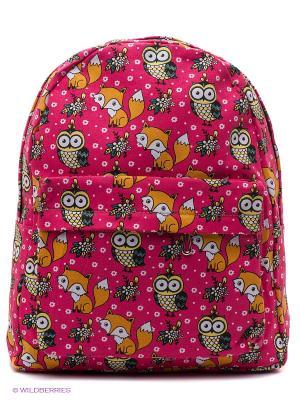 Рюкзак The Foxy Owl (ярко-розовый) Kawaii Factory. Цвет: розовый